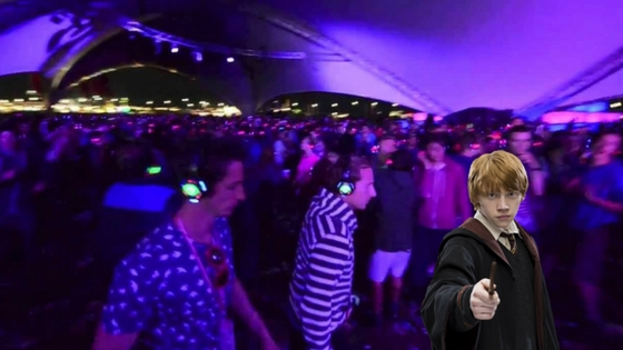 Ron Weasley Glastonbury Silent Disco